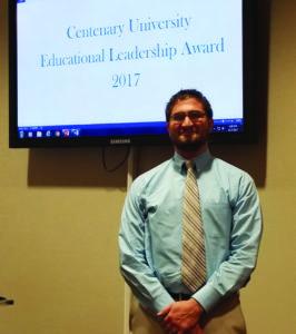 Christopher Kavcak, the Principal of Warren Hills Regional High School and a Centenary alumnus