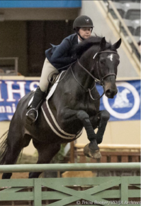 Jennifer Leddy competing in an IHSA Horse Show