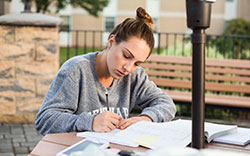 Student Studying at Centenary University