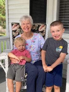 Gloria Blake Kehler '50 with grandchildren