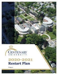 cover art for Centenary University's 2020-20221 Restart Plan - V12